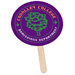 Mini Hand Fan - Round - Full Color