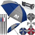 London Fog Canterbury Color Panel Golf Umbrella