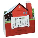 Die-Cut Desk Calendar - Barn