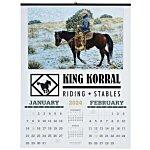 American West Calendar w/2-Month View