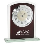 Glass & Wood Desk Alarm Clock