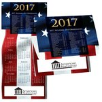 Patriotic Tidings Calendar Greeting Card