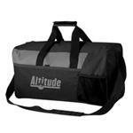 Gray Panel Square Duffel Bag