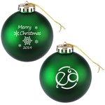 Satin Round Ornament – Snowflake – Merry Christmas