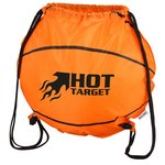 Game Time! Basketball Drawstring Backpack-Overstock