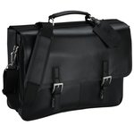 Kenneth Cole Manhattan Leather Laptop Messenger - 24 hr