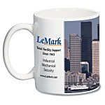 White Mug with Full Color Process - 11 oz.