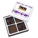 Molded Chocolate Squares - 4 Pieces - Cheer