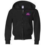 Jerzees NuBlend Full-Zip Hooded Sweatshirt - Youth - Emb