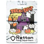 Metallic Halloween Bag - Haunted House