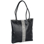 Lamis Tote with Fashion Accents - Houndstooth