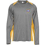 Heather Challenger Colorblock Long Sleeve Tee - Emb