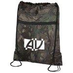 Outdoor Camo Zip Pocket Drawstring Sportpack
