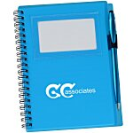 Business Card Notebook with Stylus Pen - Translucent