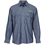 Chambray Roll Sleeve Double Pocket Shirt - Men's