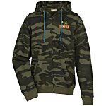 Burnside Camo Full-Zip Hooded Sweatshirt