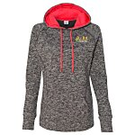 J. America - Cosmic Poly Fleece Hoodie - Ladies'- Embroidery