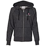 J. America Glitter French Terry Full Zip Hoodie - Ladies'