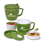 Thermal Mug With Spoon And Fork Set - 14 oz.