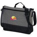 Faded Tablet Messenger Bag - Embroidered