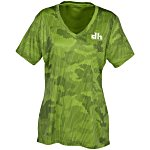 Challenger Camo Performance V-Neck Tee - Ladies' - Screen