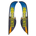Sabre Sail Sign - 13' - Two Sided - RG