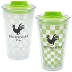 Checkered Color Changing Tumbler - 16 oz.