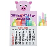 Paws and Claws Press-n-Stick Calendar-Pig