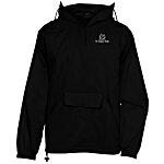 Hooded 1/4 Zip Pack Away Jacket - Screen