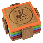 Bamboo and Silicone Coaster Set