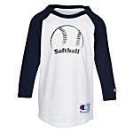 Champion Tagless Raglan Baseball Tee - Youth