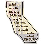 Flat Flexible Magnet - State - California - 30 mil