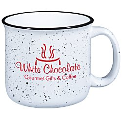 View a larger, more detailed picture of the Campfire Ceramic Mug - White - 15 oz