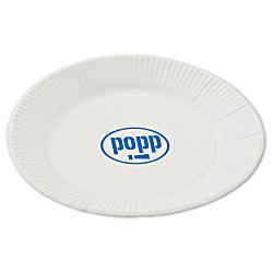 View a larger, more detailed picture of the Plastic-Coated Paper Plates - 7 Round - Low Qty
