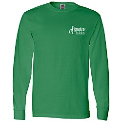 View a larger, more detailed picture of the FOL Long Sleeve 100 Cotton T-Shirt - Colors