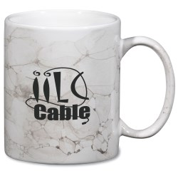 View a larger, more detailed picture of the Marble Mug - White