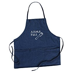 View a larger, more detailed picture of the Denim 3-Pocket Apron