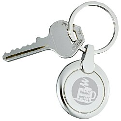 View a larger, more detailed picture of the Perspective Keychain - Round
