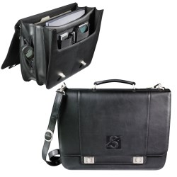 View a larger, more detailed picture of the Millennium Leather Deluxe Laptop Saddle Bag