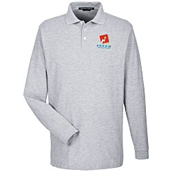 View a larger, more detailed picture of the Devon & Jones Long Sleeve Pique Polo