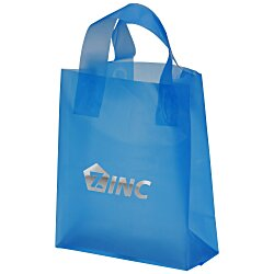 View a larger, more detailed picture of the Soft-Loop Frosted Shopper - 10 x 8 - Foil