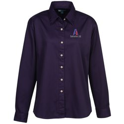 View a larger, more detailed picture of the Blue Generation LS Teflon Treated Twill Shirt - Ladies