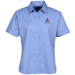 View a larger, more detailed picture of the Blue Generation SS Teflon Treated Twill Shirt - Ladies