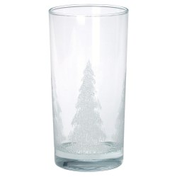 View a larger, more detailed picture of the Drinking Glass w Iced Tree Design - 12 oz