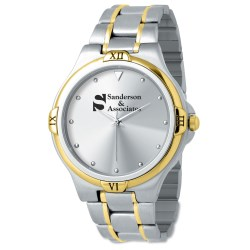 View a larger, more detailed picture of the Two Tone Stainless Steel Watch - Ladies