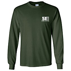 View a larger, more detailed picture of the Gildan Ultra Cotton Heavyweight Long-Sleeve Tee - Colors
