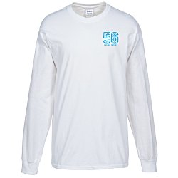 View a larger, more detailed picture of the Gildan Ultra Cotton Heavyweight LS Tee - White - Screen