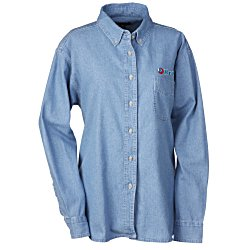 View a larger, more detailed picture of the Blue Generation Denim Shirt - Ladies 