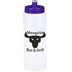 View a larger, more detailed picture of the Sport Bottle w Push Pull Cap - 32 oz
