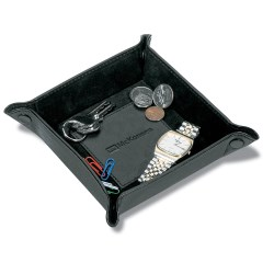 View a larger, more detailed picture of the Leather Hold Everything Tray